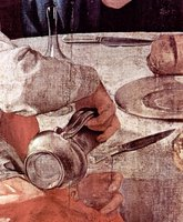 Supper at Emmaus, detail.  Pontormo, Jacopo da, 1494-1556  Click to enter image viewer  Use the Save buttons below to save any of the available image sizes to your computer.