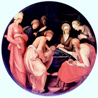 Birth of John the Baptist.  Pontormo, Jacopo da, 1494-1556  Click to enter image viewer  Use the Save buttons below to save any of the available image sizes to your computer.