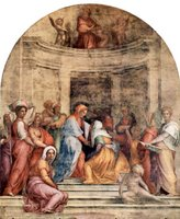 Visitation of Mary.  Pontormo, Jacopo da, 1494-1556  Click to enter image viewer  Use the Save buttons below to save any of the available image sizes to your computer.