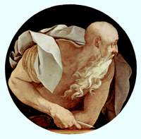 John the Evangelist.  Pontormo, Jacopo da, 1494-1556  Click to enter image viewer  Use the Save buttons below to save any of the available image sizes to your computer.
