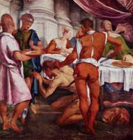 Martyrdom of John the Baptist.  Bassano, Jacopo, approximately 1518-1592  Click to enter image viewer  Use the Save buttons below to save any of the available image sizes to your computer.