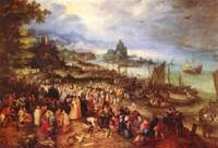 Seaside with the Sermon of Christ.  Bruegel, Jan, 1568-1625  Click to enter image viewer  Use the Save buttons below to save any of the available image sizes to your computer.