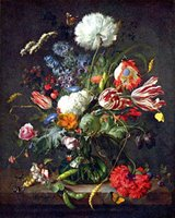 Still Life with Flowers.  Heem, Jan Davidsz. de, 1606-1683 or 4  Click to enter image viewer  Use the Save buttons below to save any of the available image sizes to your computer.