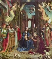 Adoration of the Christ Child by the Three Kings.  Gossaert, Jan, ca. 1478-ca. 1532  Click to enter image viewer  Use the Save buttons below to save any of the available image sizes to your computer.