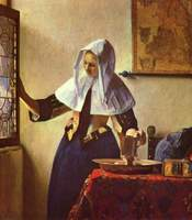 Young Woman with a Water Pitcher.  Vermeer, Johannes, 1632-1675  Click to enter image viewer  Use the Save buttons below to save any of the available image sizes to your computer.