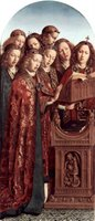 Altar of the Mystical Lamb - Angels Singing and Making Music.  Eyck, Hubert van, 1366-1426 ; Eyck, Jan van, 1390-1440  Click to enter image viewer  Use the Save buttons below to save any of the available image sizes to your computer.