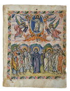 Ascension from the Rabbula Gospels.   Click to enter image viewer  Use the Save buttons below to save any of the available image sizes to your computer.