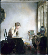 Girl Reading.  Tarbell, Edmund Charles, 1862-1938  Click to enter image viewer  Use the Save buttons below to save any of the available image sizes to your computer.