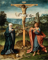 The Crucifixion.  Cleve, Joos van, d. ca. 1540  Click to enter image viewer  Use the Save buttons below to save any of the available image sizes to your computer.