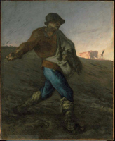The Sower.  Millet, Jean François, 1814-1875  Click to enter image viewer  Use the Save buttons below to save any of the available image sizes to your computer.