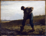 Man Turning Over the Soil.  Millet, Jean François, 1814-1875  Click to enter image viewer  Use the Save buttons below to save any of the available image sizes to your computer.