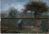 Training Grape Vines.  Millet, Jean François, 1814-1875  Click to enter image viewer  Use the Save buttons below to save any of the available image sizes to your computer.