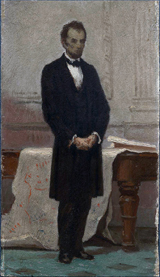 Abraham Lincoln.  Hunt, William Morris, 1824-1879  Click to enter image viewer  Use the Save buttons below to save any of the available image sizes to your computer.