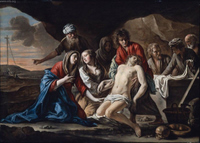 The Entombment of Christ.  Le Nain, Mathieu, 1607-1677  Click to enter image viewer  Use the Save buttons below to save any of the available image sizes to your computer.
