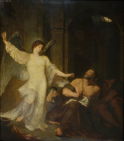 The Angel Releasing St. Peter from Prison.  Allston, Washington, 1779-1843  Click to enter image viewer  Use the Save buttons below to save any of the available image sizes to your computer.
