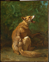 Fox in a Trap.  Troyon, Constant, 1810-1865  Click to enter image viewer  Use the Save buttons below to save any of the available image sizes to your computer.