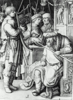 David Playing the Harp before Saul.  Lucas, van Leyden, 1494-1533  Click to enter image viewer  Use the Save buttons below to save any of the available image sizes to your computer.