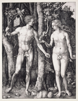 The Fall of Man (Adam and Eve).  Dürer, Albrecht, 1471-1528  Click to enter image viewer  Use the Save buttons below to save any of the available image sizes to your computer.