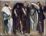 Frieze of the Prophets - study.  Sargent, John Singer, 1856-1925  Click to enter image viewer  Use the Save buttons below to save any of the available image sizes to your computer.
