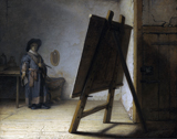 Artist in his Studio.  Rembrandt Harmenszoon van Rijn, 1606-1669  Click to enter image viewer  Use the Save buttons below to save any of the available image sizes to your computer.