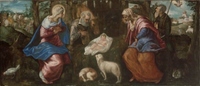 The Nativity.  Tintoretto, 1518-1594  Click to enter image viewer  Use the Save buttons below to save any of the available image sizes to your computer.
