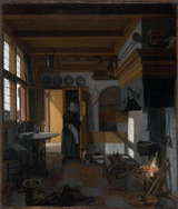 Kitchen Interior.  Witte, Emanuel de, 1617-1692  Click to enter image viewer  Use the Save buttons below to save any of the available image sizes to your computer.