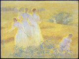 Girls in Sunlight.  Hale, Philip Leslie, 1865-1931  Click to enter image viewer  Use the Save buttons below to save any of the available image sizes to your computer.