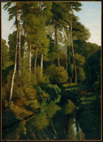 Stream in the Forest.  Courbet, Gustave, 1819-1877  Click to enter image viewer  Use the Save buttons below to save any of the available image sizes to your computer.