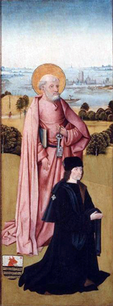 Pieter van Os with St. Peter.  Bosch, Hieronymus, d. 1516  Click to enter image viewer  Use the Save buttons below to save any of the available image sizes to your computer.
