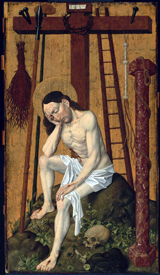 Christ as the Man of Sorrows.   Click to enter image viewer  Use the Save buttons below to save any of the available image sizes to your computer.