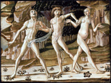 Expulsion from Paradise.  Benvenuto, di Giovanni, 1436-ca. 1518  Click to enter image viewer  Use the Save buttons below to save any of the available image sizes to your computer.