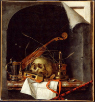 Vanitas Still Life.  Gijsbrechts, Cornelius  Click to enter image viewer  Use the Save buttons below to save any of the available image sizes to your computer.