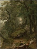Woodland Interior.  Durand, A. B. (Asher Brown), 1796-1886  Click to enter image viewer  Use the Save buttons below to save any of the available image sizes to your computer.