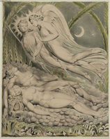 Adam and Eve Sleeping (Illustration for Paradise Lost).  Blake, William, 1757-1827  Click to enter image viewer  Use the Save buttons below to save any of the available image sizes to your computer.