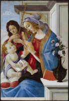 Virgin and Child with St. John the Baptist.  Botticelli, Sandro, 1444 or 5-1510  Click to enter image viewer  Use the Save buttons below to save any of the available image sizes to your computer.