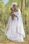 Virgin and the child Jesus in a palm grove.  JESUS MAFA  Click to enter image viewer  Use the Save buttons below to save any of the available image sizes to your computer.