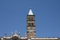 Exterior tower-Santa Maria Maggiore.   Click to enter image viewer  Use the Save buttons below to save any of the available image sizes to your computer.