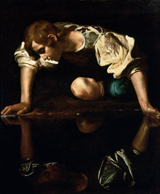 Narcissus.  Caravaggio, Michelangelo Merisi da, 1573-1610  Click to enter image viewer  Use the Save buttons below to save any of the available image sizes to your computer.