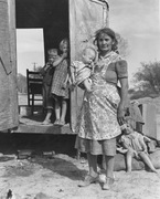 Children in a Democracy -- On Arizona Highway 87, Maricopa County.  Lange, Dorothea, 1895-1965  Click to enter image viewer  Use the Save buttons below to save any of the available image sizes to your computer.