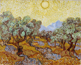 Olive Trees.  Gogh, Vincent van, 1853-1890  Click to enter image viewer  Use the Save buttons below to save any of the available image sizes to your computer.
