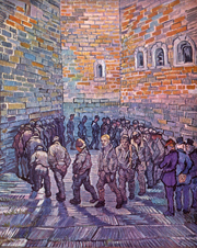 Prisoners Exercising.