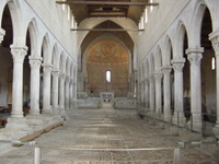 Basilica of Aquileia - interior view.   Click to enter image viewer  Use the Save buttons below to save any of the available image sizes to your computer.
