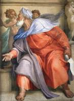 Prophet Ezekiel.  Michelangelo Buonarroti, 1475-1564  Click to enter image viewer  Use the Save buttons below to save any of the available image sizes to your computer.