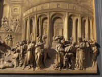 Gates of Paradise - Florentine baptistery.  Ghiberti, Lorenzo, 1378-1455  Click to enter image viewer  Use the Save buttons below to save any of the available image sizes to your computer.