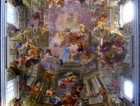 Apotheosis of St. Ignatius.  Pozzo, Andrea, 1642-1709  Click to enter image viewer  Use the Save buttons below to save any of the available image sizes to your computer.