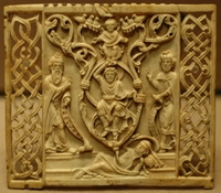Tree of Jesse, a Bavarian ivory panel..   Click to enter image viewer  Use the Save buttons below to save any of the available image sizes to your computer.