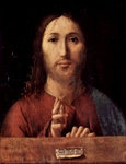Salvator Mundi, Savior of the World.  Antonello, da Messina, 1430?-1479  Click to enter image viewer  Use the Save buttons below to save any of the available image sizes to your computer.