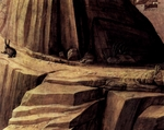 Detail of rabbit from painting of Christ at Gethsemane.  Mantegna, Andrea, 1431-1506  Click to enter image viewer  Use the Save buttons below to save any of the available image sizes to your computer.