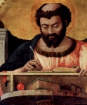 Luke, the Evangelist, detail of altarpiece.  Mantegna, Andrea, 1431-1506  Click to enter image viewer  Use the Save buttons below to save any of the available image sizes to your computer.