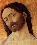 Jesus Christ, detail of altarpiece.  Mantegna, Andrea, 1431-1506  Click to enter image viewer  Use the Save buttons below to save any of the available image sizes to your computer.